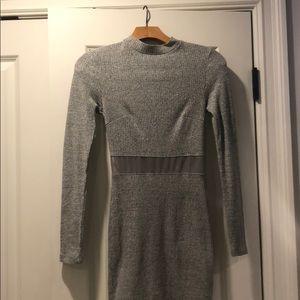 Comfy gray sweater dress